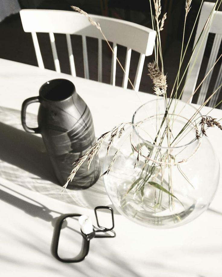 gräs i nya fina Ernst vasen @balancebysandra