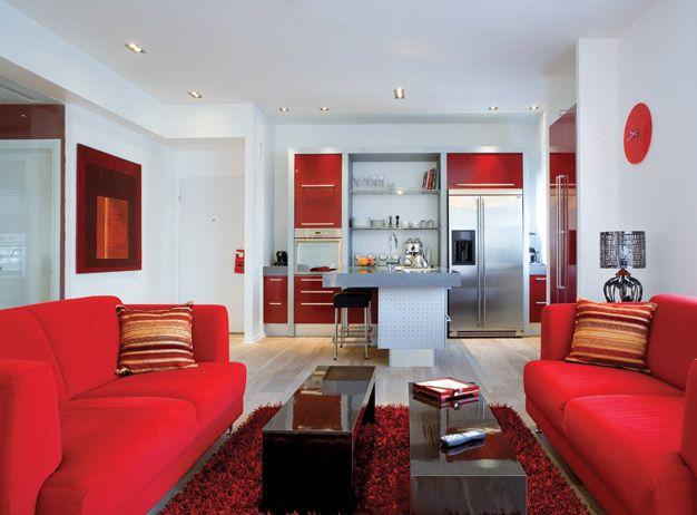 21 besten Living room Bilder auf Pinterest Rote wohnzimmer - wohnzimmer rot grau