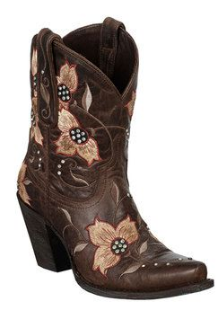Lane Boots Heritage Shortie Brown Women's Cowgirl Boots (LB0146C)