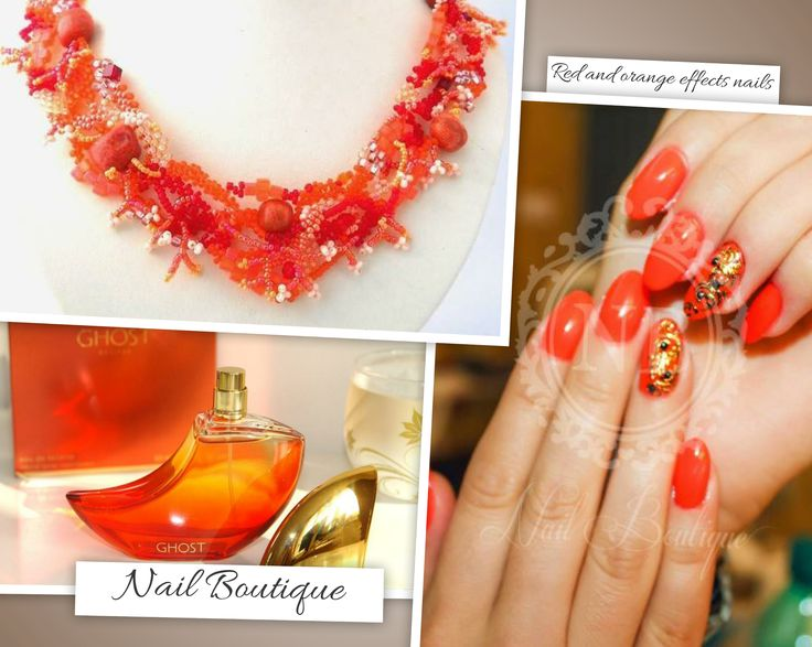Red effect nails