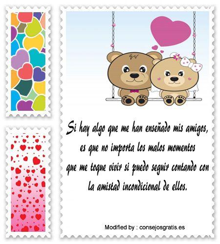 mensajes bonitos para el dia del amor y la amistad,descargar frases bonitas de amistad, originales mensajes de amistad : http://www.consejosgratis.es/descargar-mensajes-de-amistad/