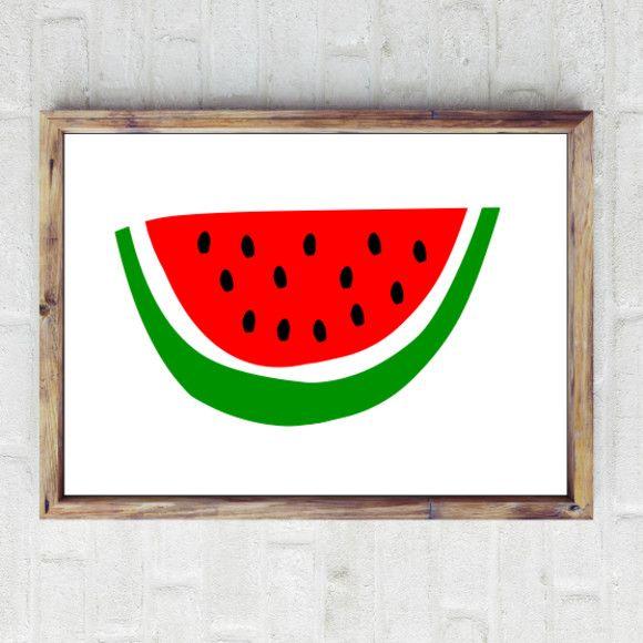 Watermelon print   hardtofind.