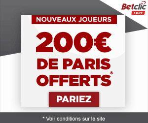 BetClic Turf : 200 euros de paris offerts sur le 1er dépôt