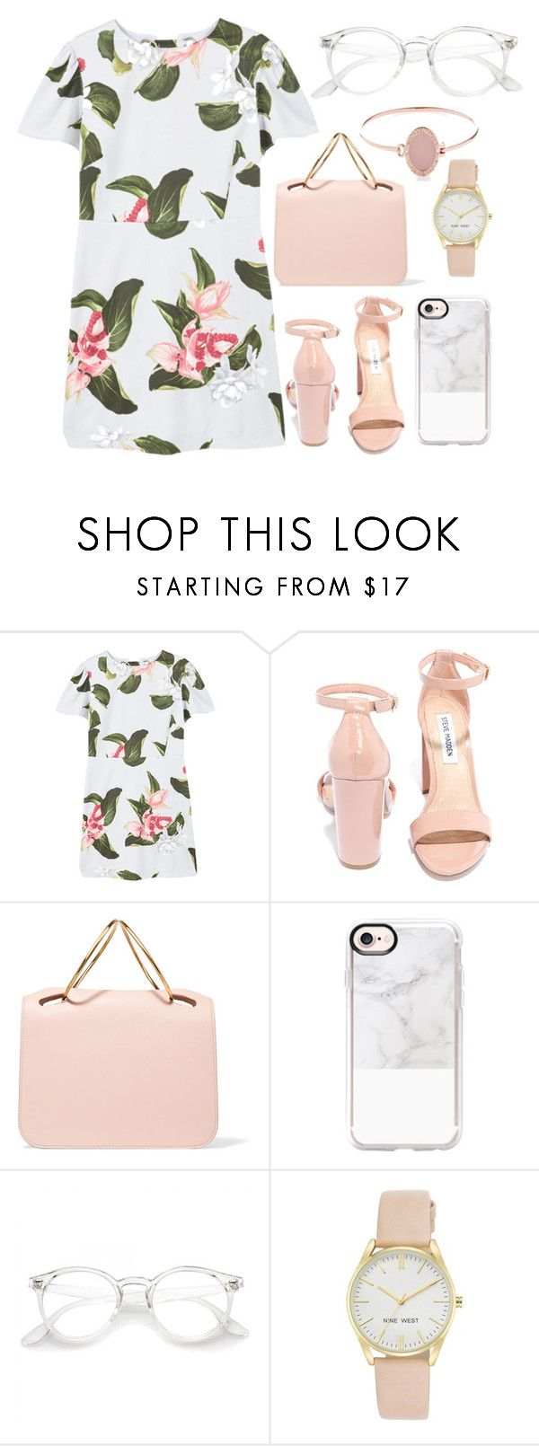 Untitled #820 by buesosanchez on Polyvore featuring moda, MANGO, Steve Madden, Roksanda, Nine West, Michael Kors and Casetify