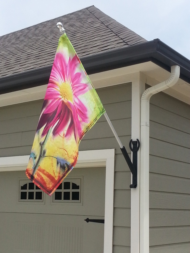 awesome flag for house #2: FLAG HOLDER FOR THE HOUSE