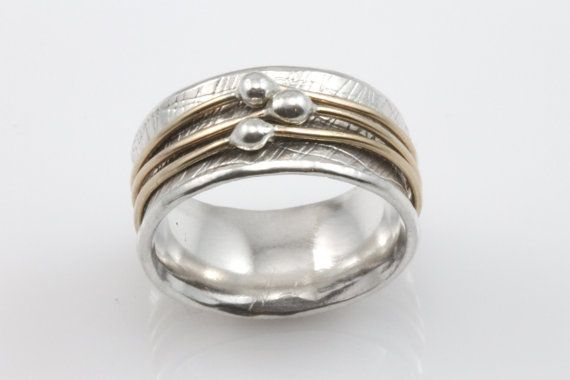 Orbit Spinner Ring,  Meditation Ring, Recycled Silver
