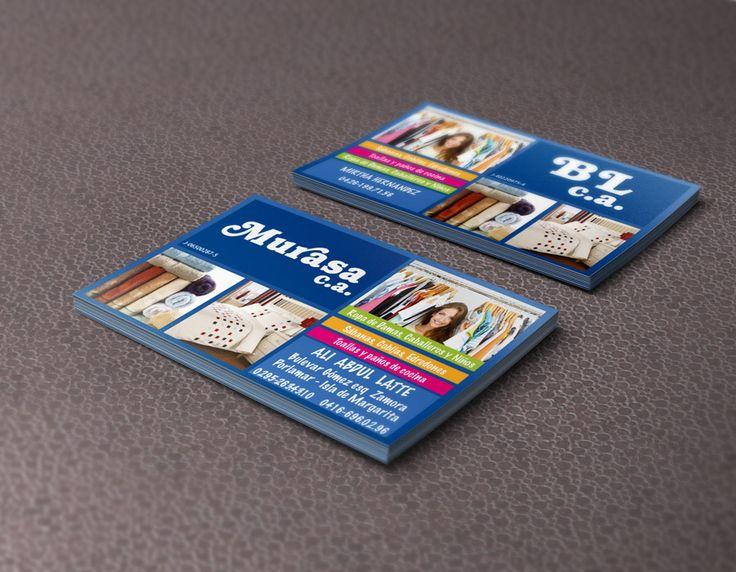 Tarjetas de presentación para Murasa.ca y BL.ca diseñadas e impresas por Ambros Imprenta Digital y Estudio de Diseño