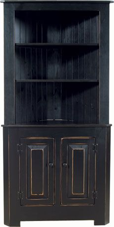 Kloter Farms - Sheds, Gazebos, Garages, Swingsets, Dining, Living, Bedroom Furniture CT, MA, RI: Nutmeg Pine Extra Large Corner Cabinet: Painted