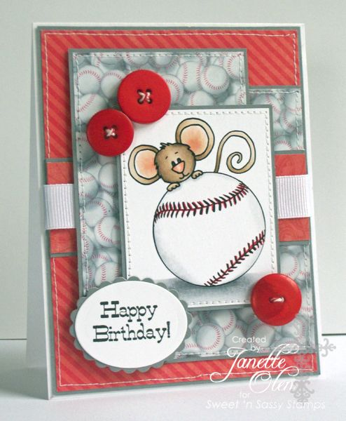 Baseball birthday by blessingsX3 - Cards and Paper Crafts at Splitcoaststampers