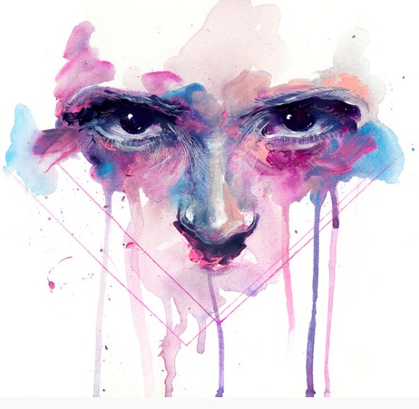 Eyes by Agnes-Cecile, called My right My faith in which she uses acrylic paint, water colurs and white pen on canvas. Cecile creates a depth and fluidity to her work. Giving the eyes an intensity through re working into her work with white pen her works have a real connection to that of Stina Perssons work, which too has the same fluidity with the use of masking fluid and water colours.
