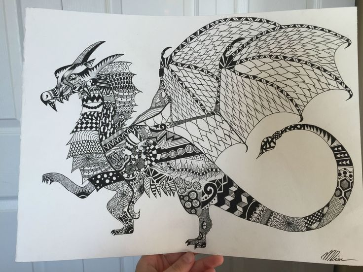 Sharpie Dragon Coloring Pages