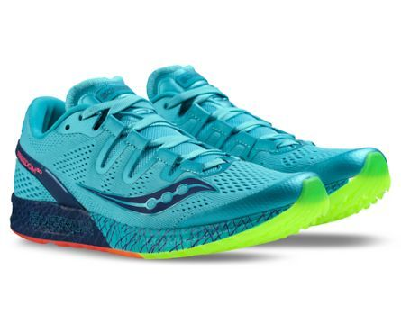 Saucony - Freedom ISO (S10355-3) , Blue | Citron. Running Shoes ...