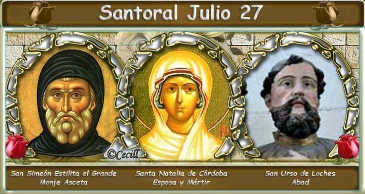 Vidas Santas: Santoral Julio 27
