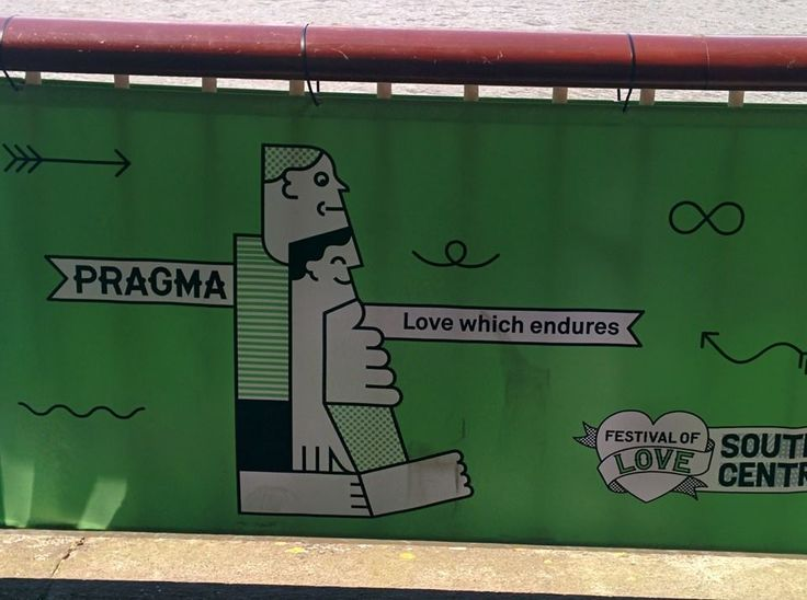 Pragma: rational and realistic love. Alongside the Thames River in London, Summer 2014