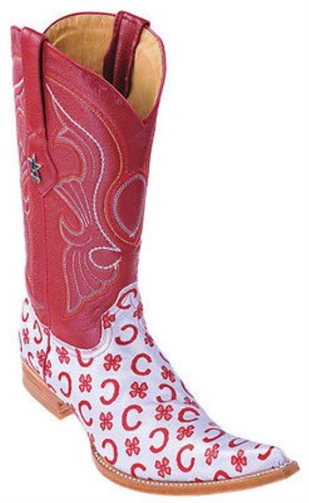 De diseño de moda de cuero rojo gris Los Altos Hombres Botas occidentales Cowboy Style 6x Toe