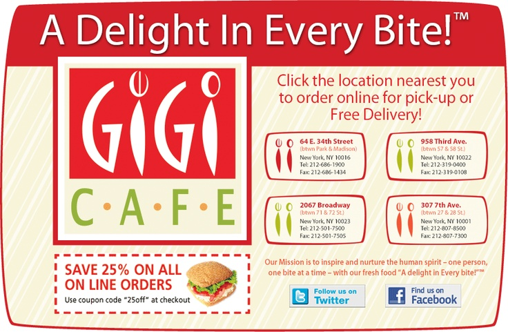 GiGi Cafe 2067 Broadway | 2067 Broadway Between 71st & 72ndStreets | New York, NY 10023