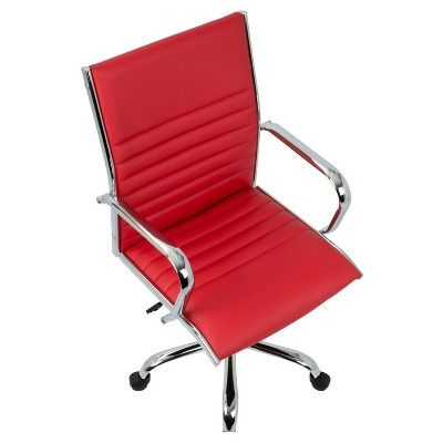 Master Contemporary Office Chair - Red - Lumisource