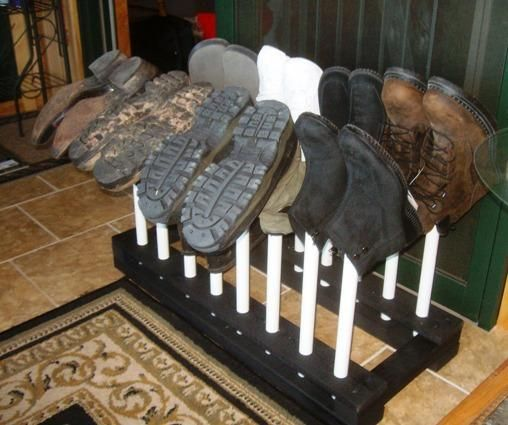Free Boot Rack Plans - How to Build A Boot Rack or Shoe Rack