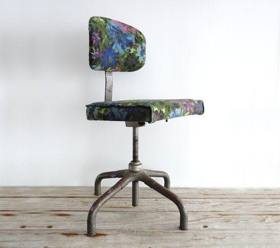 An Artist's Chair  Vintage Upholstered Stool by GallivantingGirls, $165.00
