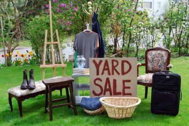yard sale merchandise - Anthony Rosenberg/E+/Getty Images