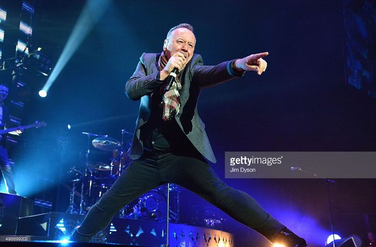 Jim Kerr of Simple Minds performs live on stage at The O2 Arena on November 26, 2015 in London, England.