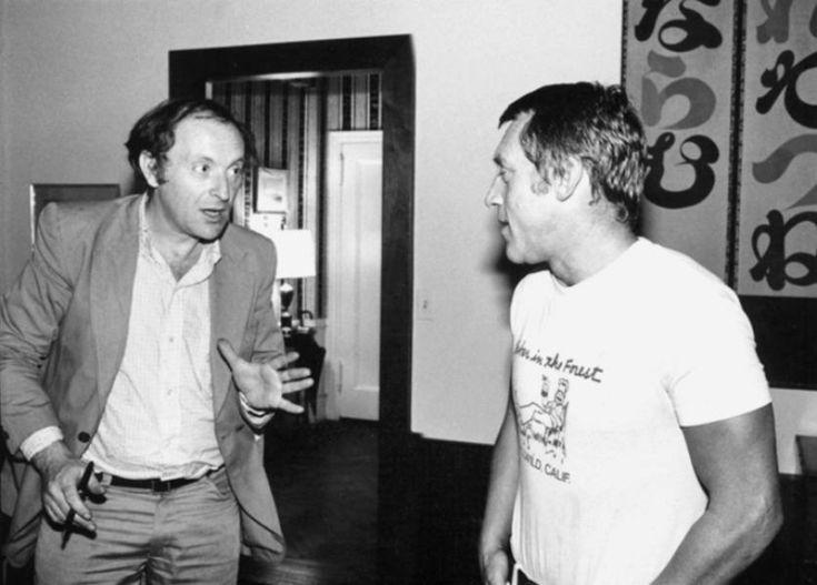 Иосиф Бродский и Владимир Высоцкий, Нью-Йорк, 1979 г. Фото Л. Лубяницкого.