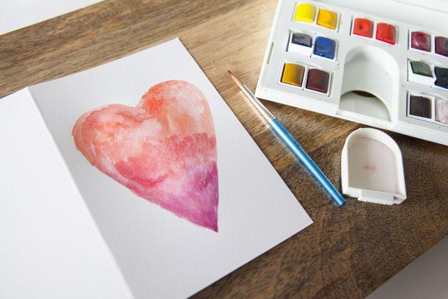 diy watercolor birthday card http://Dosomething.org/birthday