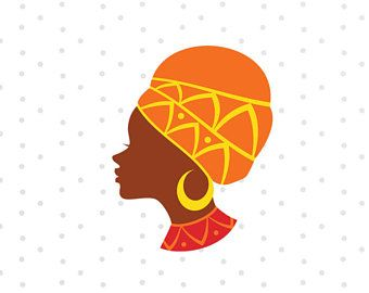 African Girl Svg, Tribal Svg, Africa Clipart Svg File For Silhouette, Svg For Cricut, Cut Files Vinyl Decal Iron On Transfer Svg Sayings