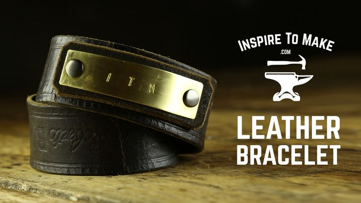 You tube shows even how to do the metal stamp. DIY Leather Bracelet