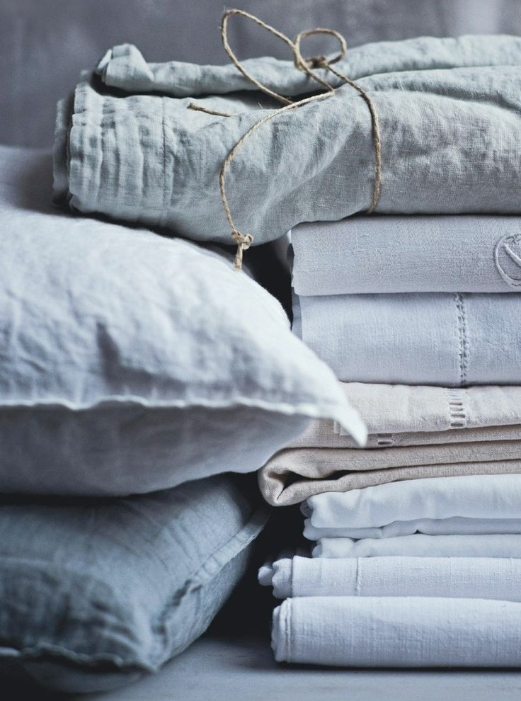 linen bedding will cool you down when it's hot and warm you up when it's chilly. Get closer to the nature...