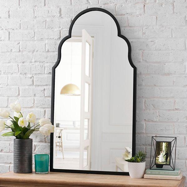 maria metal black arch wall mirror black bathroom on wall mirrors id=21761