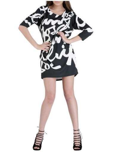 ΝΕΕΣ ΑΦΙΞΕΙΣ :: Φόρεμα Straight Line Letters Black - OEM
