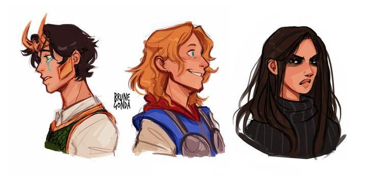 Es ist so perfekt! Thor ist glücklich, Hela unzufrieden und Loki zerbricht an sich selbst während die anderen ihm den Rücken zukehren.