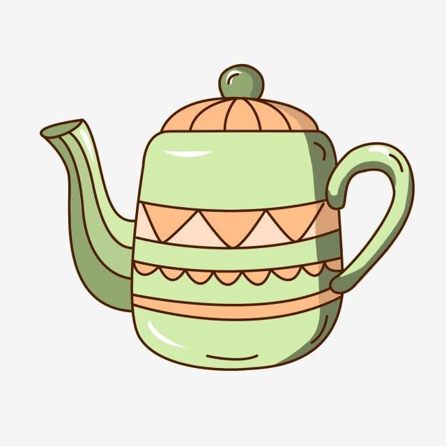 إبريق الشاي الأخضر الداكن غطاء أصفر إبريق جميل إبريق الشاي الكرتون فنجان إبريق إبريق الشاي مرسومة باليد ابريق الشاي Png وملف Psd للتحميل مجانا Tea Pots Green Crafts