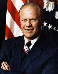 38th President Gerald Ford, the only one who never won a presidential election as either head man or veep.