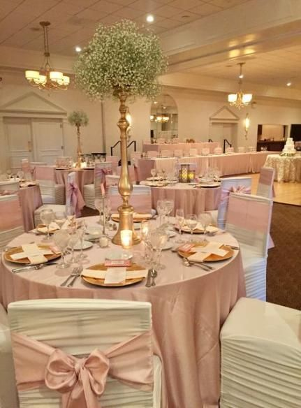 Wedding Reception Hall Decorations Rose Gold 40+ Ideas #wedding
