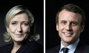 Marine Le Pen of the far-right Front National and Emmanuel Macron of En Marche!