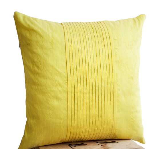 Throw pillows in yellow art silk  Attractive by AmoreBeaute, $21.50