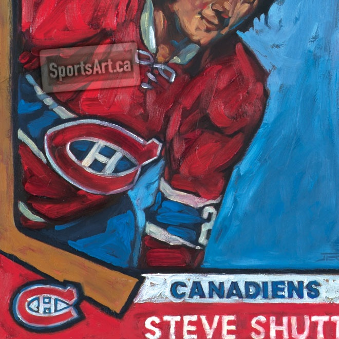"""Detail From """"Rookie Steve Shutt"""" By Jeremie White / Cards"""