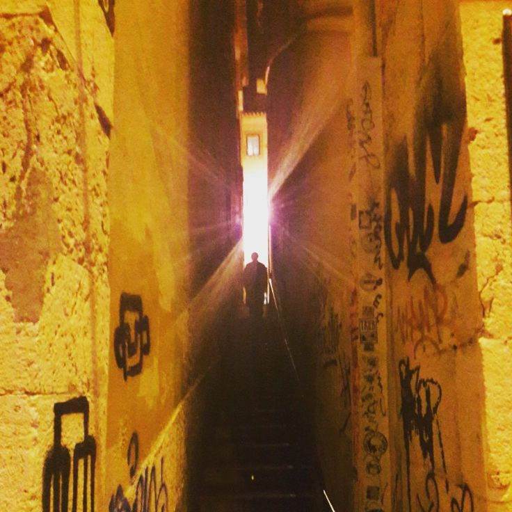 The Light (at the end of the Alley). This used to be the last of the four Jewish Quarters that existed in Lisbon  in the 1400s and 1500s. At the time, the Jewish was a very valuable community. #alley #light #jewishquarter #jewishdistrict #history #architecture #lisbon #oldtown #visit #explore #lisbontailoredtours #lisbonwithpats