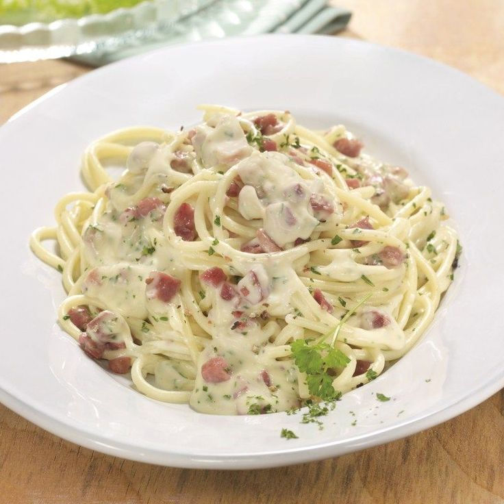 Spaghetti met carbonarasaus Recept | Weight Watchers België