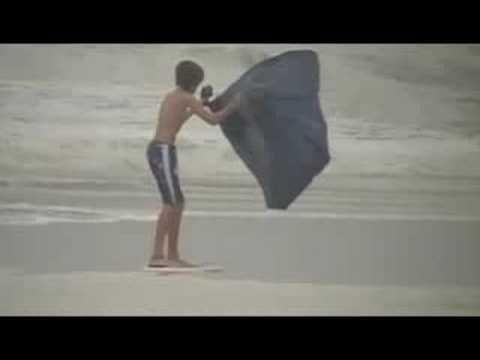 Skimming with Hurricane Gustav
