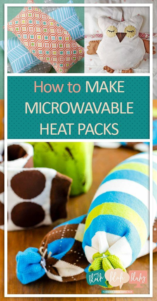 How to Make Microwavable Heat Packs  Microwavable Heat Packs, Heat Packs, DIY Heatpacks, No Sew Heat Pack Projects, No Sew Projects, Quick Craft Projects, Crafting, Craft Hacks, Easy Projects