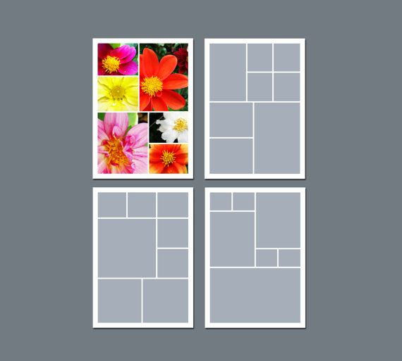 INSTANT DOWNLOAD  Photo Collage Template by LucyRoseDesigns, $5.60