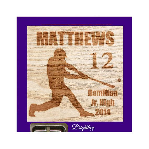 Personalized Baseball Magnetic Locker Sign Decoration Impressed On Wood Print Full Backing