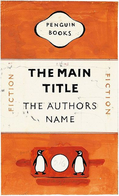 Jan Tschichold's mock-up for the Penguin re-design