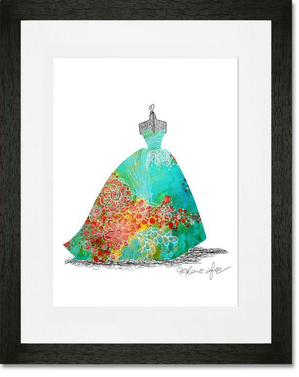 Ballgown Mediterranean Framed Art Print