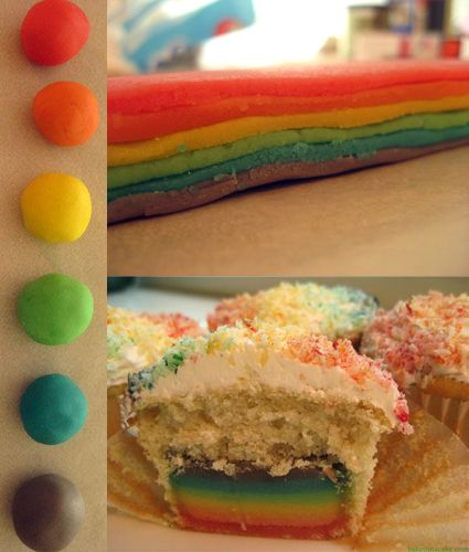 Double rainbow cupcakes!