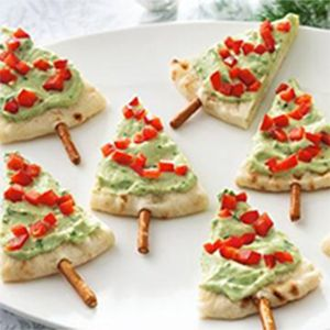 Pita Trees and more of the best healthy Christmas recipes on MyNaturalFamily.com #christmas #recipe