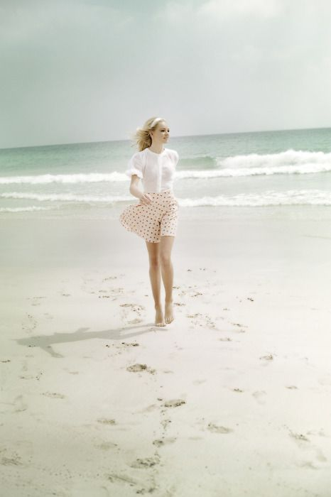 : At The Beaches, Pastel, Polka Dots, Favorite Things, Style, Sea Breeze, Beaches Outfit, Beautiful, Fashion Photography